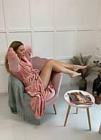 Халат женский махровый длинный, фото 1