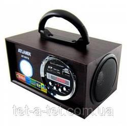 Портативная акустика USB, CardReader, Радио ATLANFA AT-8976