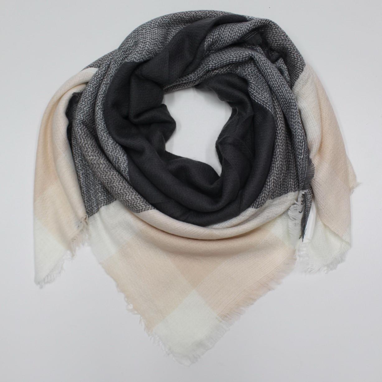Большой теплый платок Cashmere 214012