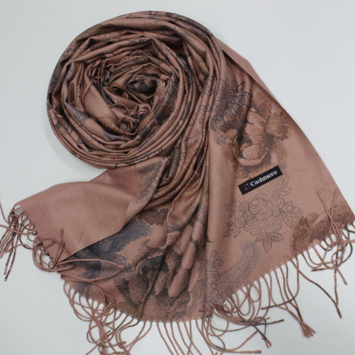 Кашемировый двухстонный шарф палантин Cashmere 106014