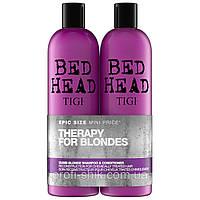 Шампунь и кондиционер для Блонди волос TIGI Bed Head Colour Combat Dumb Blonde Tween Duo (2 x 750ml)