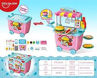 Детская Закусочная с тележкой, 28 предметов