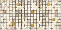 Декоративні Панелі ПВХ Мозаїка мармур з золотом