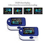 ОПТ Пульсоксиметр медицинский на палец для измерения кислорода в крови TFT Пульсометр Fingertip Pulse Oximeter, фото 5