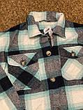 Теплая и стильная рубашка в клетку из фланели, фото 5