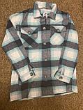 Теплая и стильная рубашка в клетку из фланели, фото 4