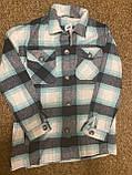 Теплая и стильная рубашка в клетку из фланели, фото 8