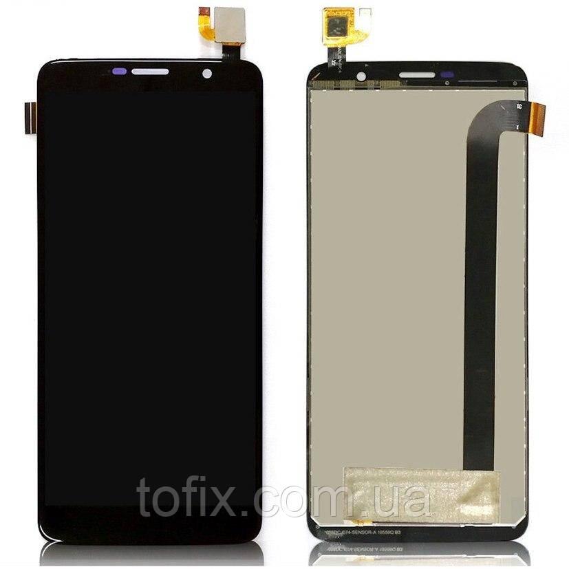 Дисплей для Homtom S7, модуль в зборі (екран і сенсор), чорний, оригінал