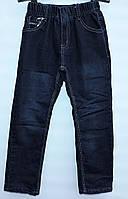Утепленные джинсы для мальчика 7-11 лет на резинке