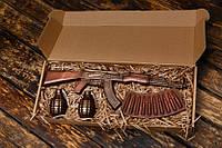 """Подарунковий шоколадний набір """"Шоколад з чоловічим характером"""" АК-47"""