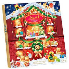 Новогодний адвент календарь Lindt Teddy набор шоколадных мишек, 172 грамм