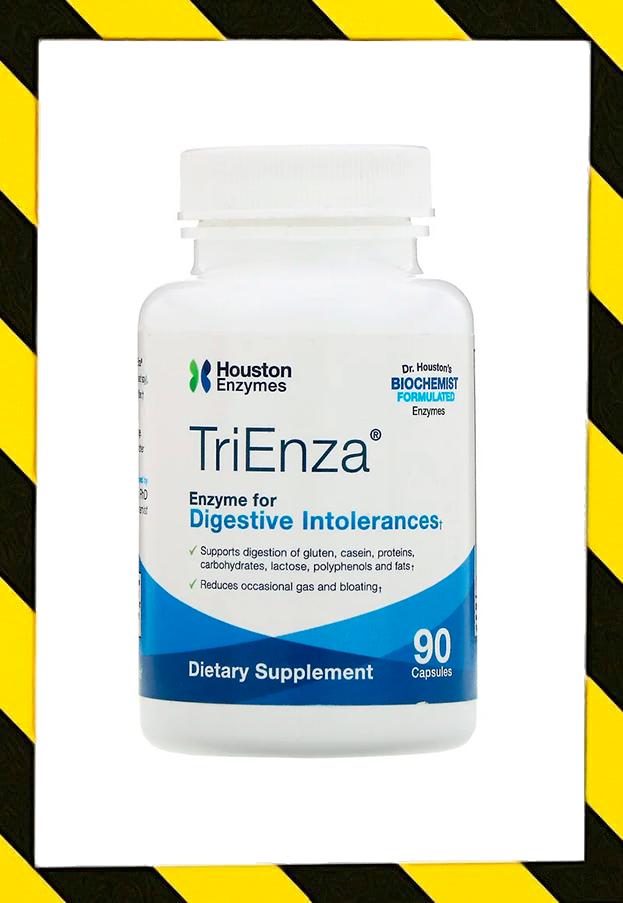 Houston Enzymes, TriEnza,Houston Enzymes, TriEnza, энзимы ферменты пищеварительные 90 капс