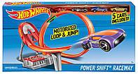 Гоночный Трек Хот Вилс Безумный форсаж и 5 машин / Hot Wheels Power Shift Raceway Track & 5-Race Vehicles Set
