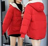 Яркая качественная зимняя красная куртка, размер м, фото 2
