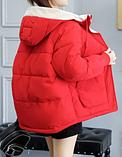 Яркая качественная зимняя красная куртка, размер м, фото 3