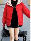 Яркая качественная зимняя красная куртка, размер м, фото 4