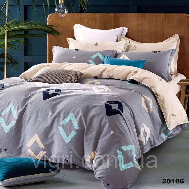Постельное белье, евро комплект, ранфорс, Вилюта «VILUTA» VР 20106