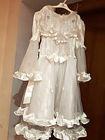 Біле святкова карнавальна сукня 110-116 см б/у