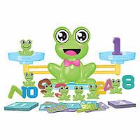 Детская настольная игра баланс лягушка обучающая счету Fun Frog balance