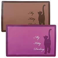 24473 Trixie My Kitty Darling коврик под миски, розовый