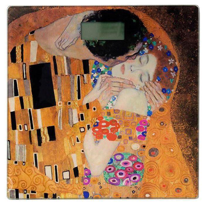 Красочные электронные напольные весы Grunhelm BES-Klimt с автоматическим включением/отключением