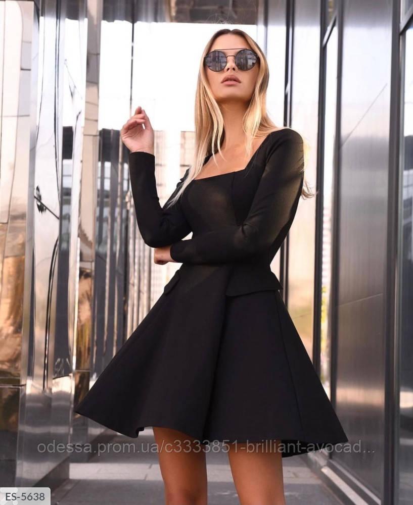 Стильное замшевое нарядное платье мини