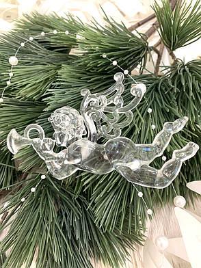 Новогоднее  украшение - ангел лёд ( 12 см ), фото 2