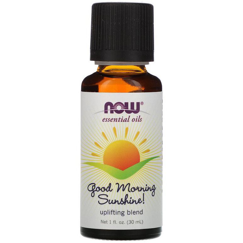 "Ефірне масло для підвищення настрою NOW Foods, Essential Oils ""Good Morning Sunshine"" (30 мл)"