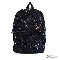 Черный рюкзак с цветными точками Four Elements