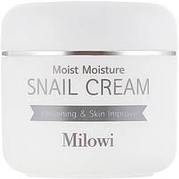 Увлажняющий крем для лица с муцином улитки Milowi Chok Chok Snail Watery Cream 60 мл (8809518823178), фото 2