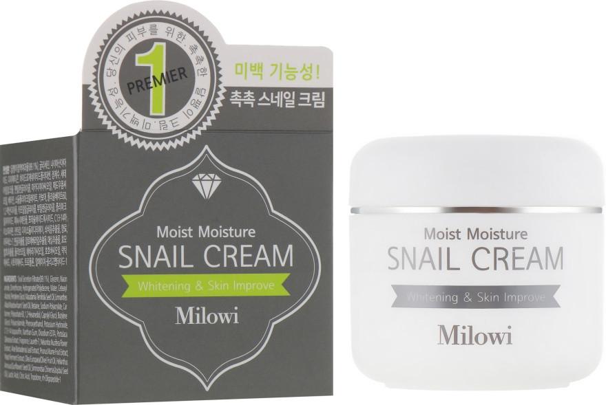 Увлажняющий крем для лица с муцином улитки Milowi Chok Chok Snail Watery Cream 60 мл (8809518823178)