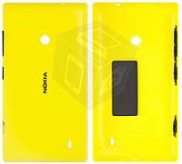 Задняя панель корпуса для Nokia Lumia 520, c боковыми кнопками, желтый, оригинал