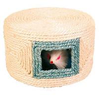 4537 Trixie Игрушка Мышка в домике, сизаль, 1 шт