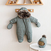 """Теплая одежда для детей до года """"Аляска"""" цвета морской волны"""