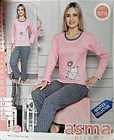 Утепленная женская  пижама, начес. Одежда для дома и сна. Размер S(42-44). Турция, фото 1