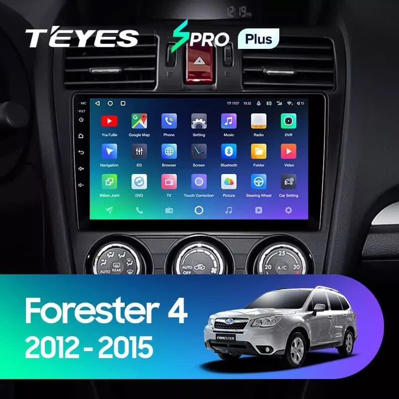 Штатна магнітола TEYES SPRO Plus  Subaru Forester 4 SJ 2012 - 2015 Android 10