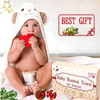 Детское Полотенце с Капюшоном - Банное Полотенце - Полотенце Уголок для Новорожденных и Детей до 5 Лет
