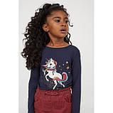 Дитяча кофта для дівчинки H&M на зріст 98-104 см (на 2-4 роки), фото 2