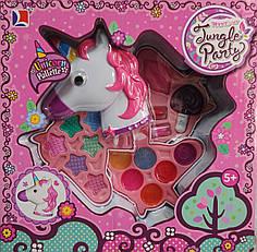 Набор детской декоративной косметики розовая единорог Party