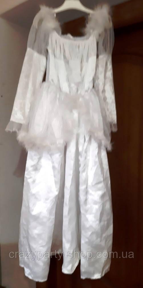 Латье карнавальное нарядное белое 110-120 см б/у