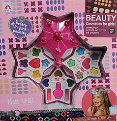 Набор детской декоративной косметики розовая звезда
