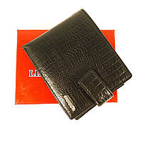 Кошелек кожаный мужской черный Lison Kaoberg 35007, фото 1