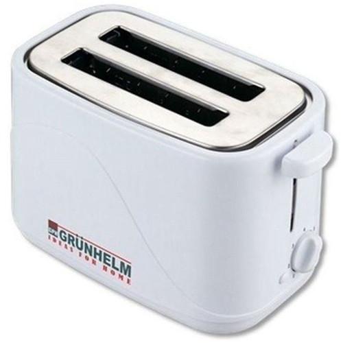 Тостер на 2 отделения Grunhelm GWD 008 белый 700Вт