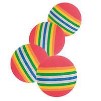 4097 Trixie Набор радужных мячей, 3,5 см