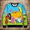 Світшот с принтом  Adventure time / Час пригод Щастя Дорослі і дитячі розміри