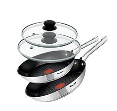 Сковородки TEFAL 24 28 cm DUETTO + крышки