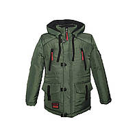 """Детская куртка теплая зеленая """"Тимур"""""""