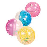 4166 Trixie Набор пластмассовых мячей, 4,5 см