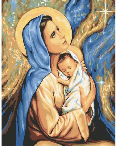 Картина по номерам - Мария и Иисус Brushme 40*50 см. (GX24165)