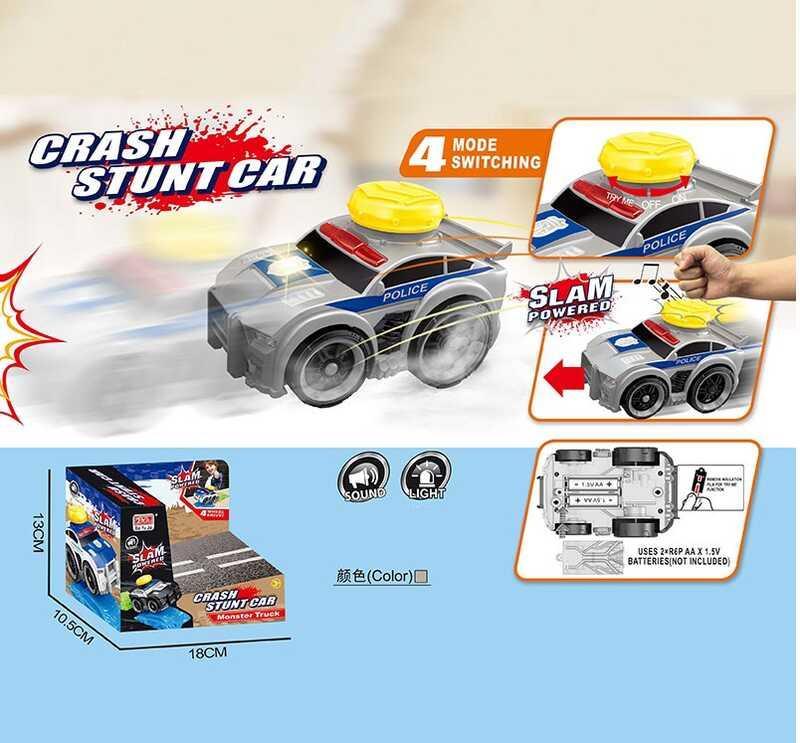Машинка A 2244-1 / 2/3 (96/2) 3 виду, звук, світло, на батарейках, в коробці